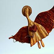 Сувениры и подарки handmade. Livemaster - original item Angel Has Thrown. Figurine carved from wood.. Handmade.