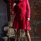 Одежда handmade. Livemaster - original item Red coat!Fur coat !Paglio. Handmade.
