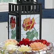 """Для дома и интерьера ручной работы. Ярмарка Мастеров - ручная работа """"Такие разные розы"""" фонарь - подсвечник-светильник. Handmade."""