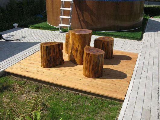 Мебель ручной работы. Ярмарка Мастеров - ручная работа. Купить Комплект уличной мебели из массива дуба. Handmade. Массив дуба