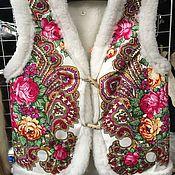 Одежда ручной работы. Ярмарка Мастеров - ручная работа Жилетки из натуральй овечьей шерсти. Handmade.