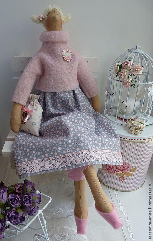 Куклы Тильды ручной работы. Ярмарка Мастеров - ручная работа. Купить Роуз. Handmade. Бледно-розовый, тильда, шерсть 100%