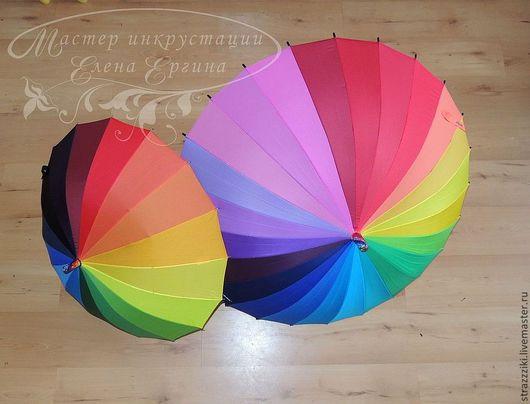 Зонты ручной работы. Ярмарка Мастеров - ручная работа. Купить Зонт. Handmade. В полоску, стразы