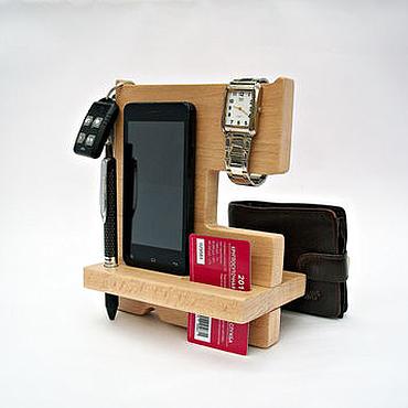 Сумки и аксессуары ручной работы. Ярмарка Мастеров - ручная работа Подставка под телефон из дерева. Handmade.