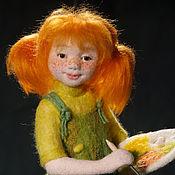 Куклы и игрушки ручной работы. Ярмарка Мастеров - ручная работа Танюшка. Авторская войлочная кукла. Handmade.