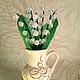 Цветы ручной работы. Ярмарка Мастеров - ручная работа. Купить Ландыши из бисера. Handmade. Белый, весна, весенние цветы