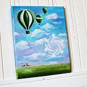 Картины и панно ручной работы. Ярмарка Мастеров - ручная работа Картина маслом Воздух. Handmade.