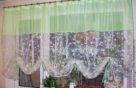 Текстиль, ковры ручной работы. Ярмарка Мастеров - ручная работа. Купить Французская штора.. Handmade. Комбинированный, тюль, подарок, занавеска
