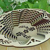 Для дома и интерьера ручной работы. Ярмарка Мастеров - ручная работа Ваза кедровая овальная. Handmade.
