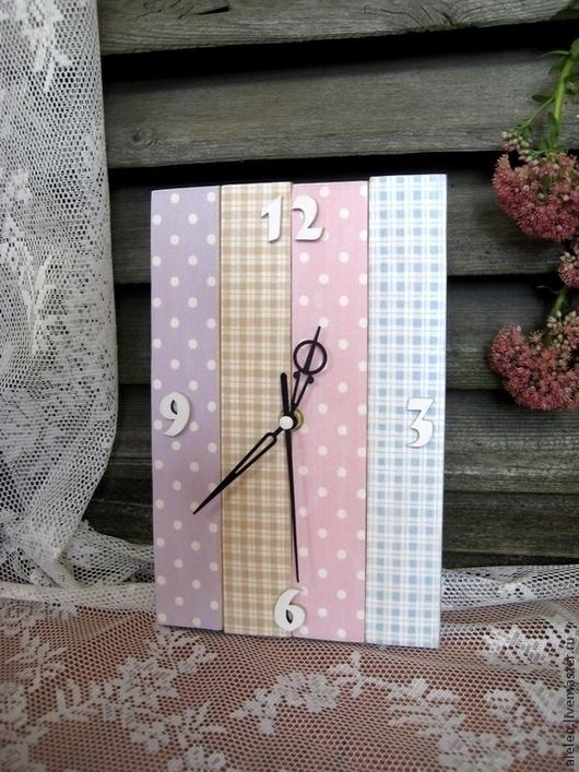 """Часы для дома ручной работы. Ярмарка Мастеров - ручная работа. Купить Часы """"Ситцевые"""". Handmade. Часы, часы для дачи, дощечки"""