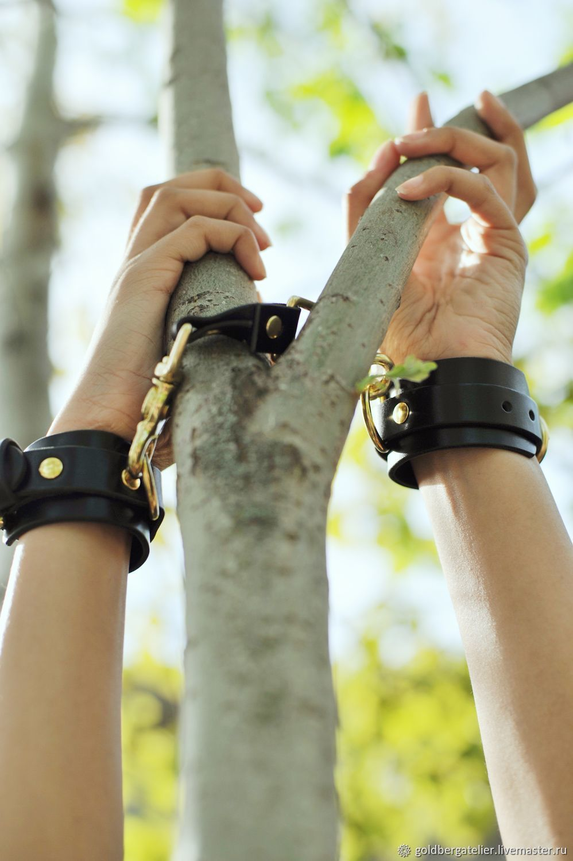 """Кожаные наручники """"Mature"""", кожаный бондаж, БДСМ, Наручники, Санкт-Петербург,  Фото №1"""