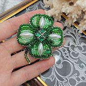 Украшения handmade. Livemaster - original item Brooch-pin: Clover for good luck. Handmade.