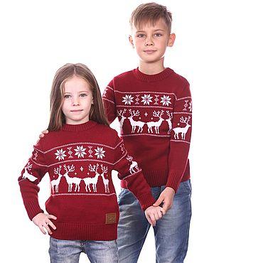 """Одежда ручной работы. Ярмарка Мастеров - ручная работа Детский свитер """"Норвежские олени"""". Handmade."""