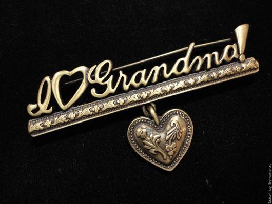 """Винтажные украшения. Ярмарка Мастеров - ручная работа. Купить Брошь """"Любимой бабушке"""" от JJ. Handmade. Комбинированный, брошь в подарок бабушке"""