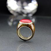 Украшения handmade. Livemaster - original item Solid brown carnelian ring with cabochon. Handmade.