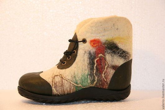 Обувь ручной работы. Ярмарка Мастеров - ручная работа. Купить зимний лес ( Аленушка). Handmade. Обувь, шерсть, полиуретан