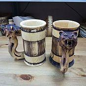 Посуда handmade. Livemaster - original item Mug made of cedar for cold drinks. Beer mug. Handmade.