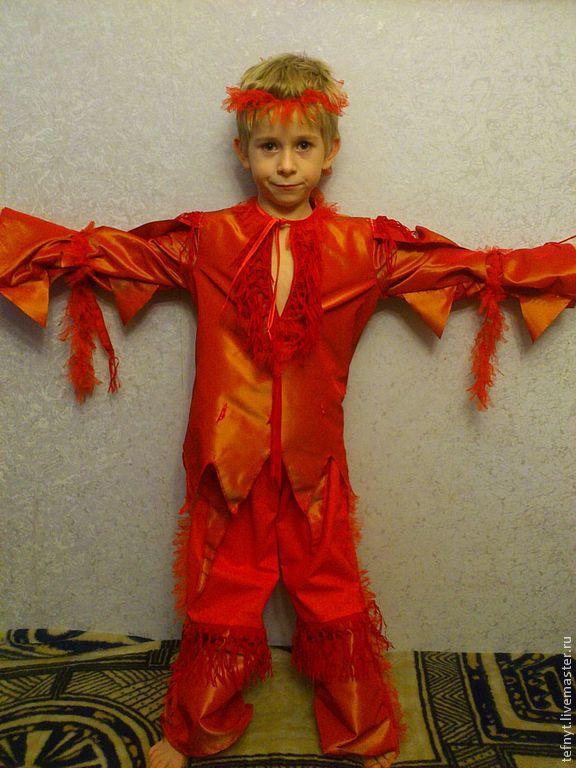 Как сшить костюм огня для девочки 25