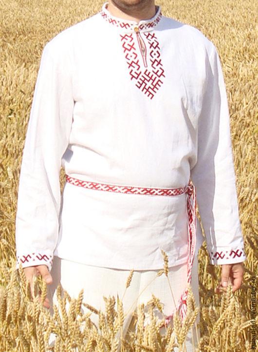 Russian embroidered linen shirt 'Jaromir', People\\\'s shirts, Starominskaya,  Фото №1