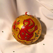 """Подарки к праздникам ручной работы. Ярмарка Мастеров - ручная работа Елочная игрушка """"Красная обезьяна"""". Handmade."""