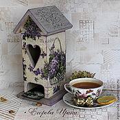 Для дома и интерьера handmade. Livemaster - original item Tea house Basket of violets. Handmade.