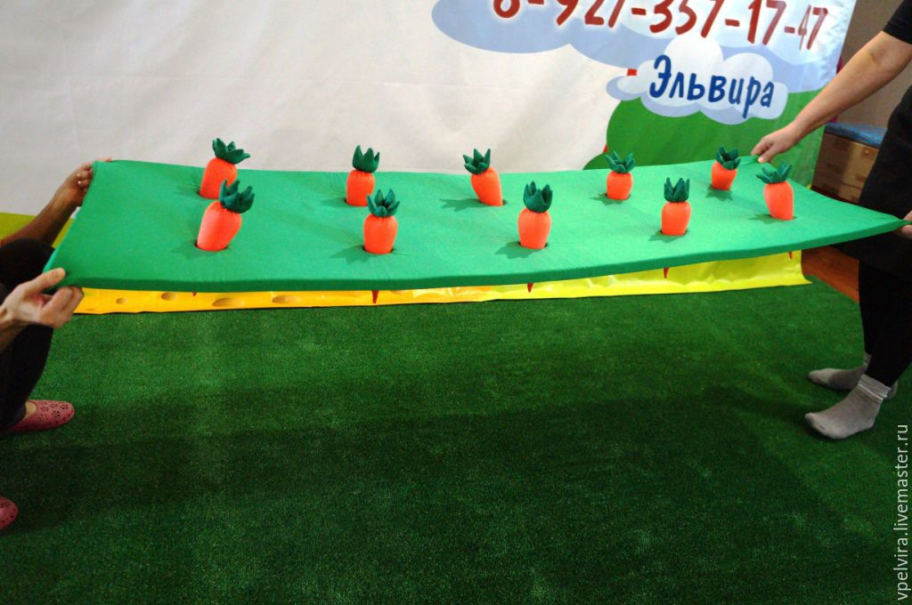 Props for games, the Garden with carrots. Game props. Props to the animators.
