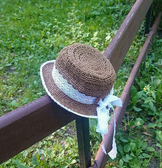 Шляпы ручной работы. Ярмарка Мастеров - ручная работа. Купить Шляпа из рафии. Handmade. Шляпка женская, шляпка для девочки, шляпка
