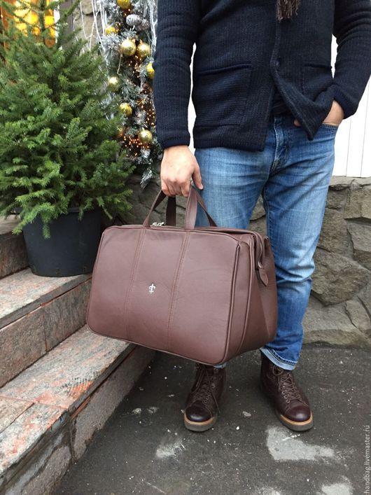 Мужские сумки ручной работы. Ярмарка Мастеров - ручная работа. Купить Сумка Travel. Handmade. Дорожная сумка, сумка из кожи