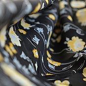"""Материалы для творчества ручной работы. Ярмарка Мастеров - ручная работа Вискоза """"Желтые розы"""". Цена за отрез. Handmade."""