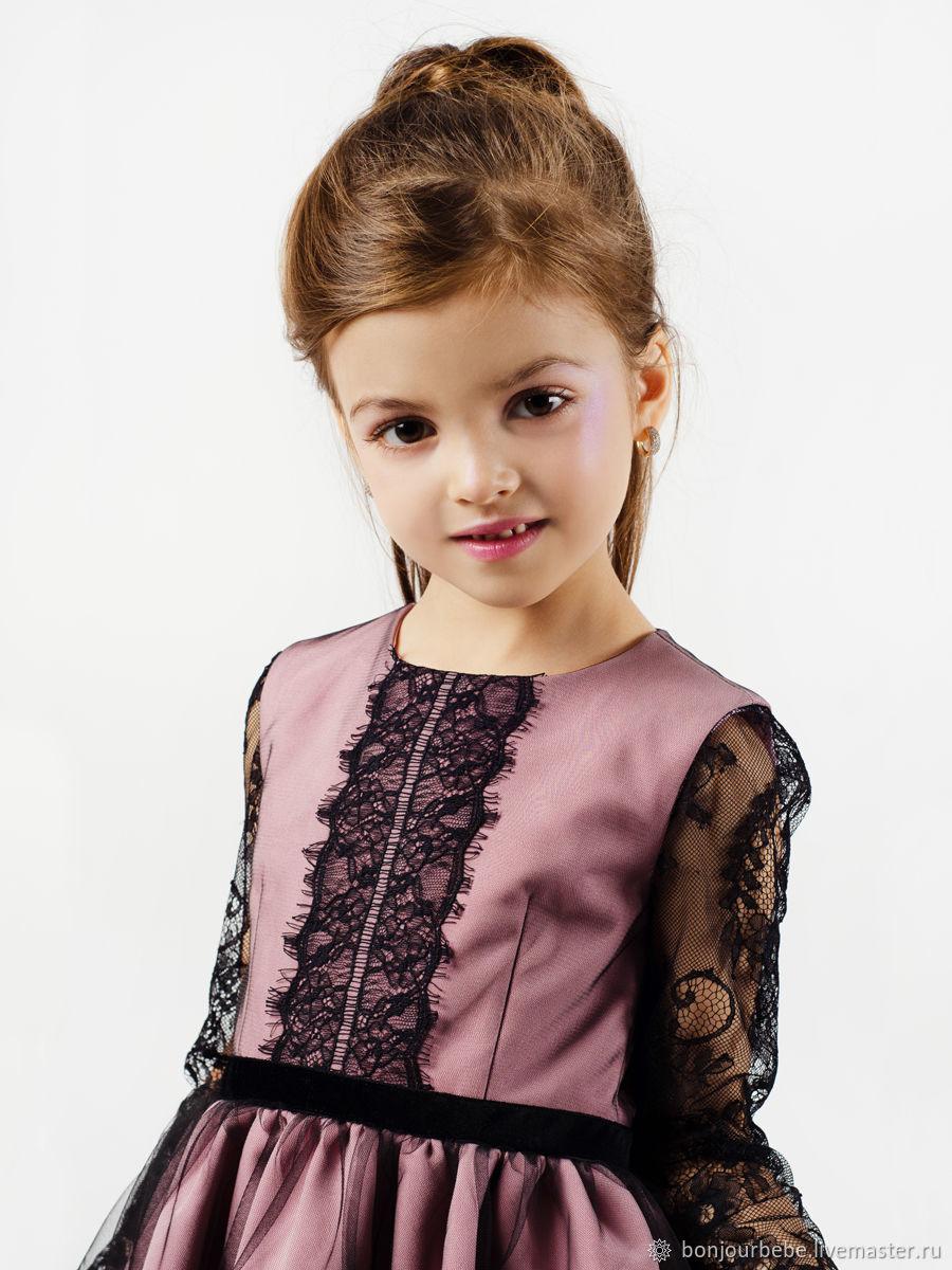 """Платье для девочки с кружевом шантильи """"Миа"""""""