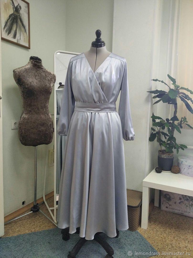 Платье с запАхом  из шёлка, Платья, Санкт-Петербург,  Фото №1