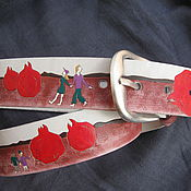 Аксессуары handmade. Livemaster - original item In the COUNTRY of GARNET leather strap. Handmade.