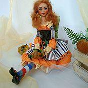 Куклы и пупсы ручной работы. Ярмарка Мастеров - ручная работа Кукла Фея Тыковка. Handmade.