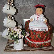 """Для дома и интерьера ручной работы. Ярмарка Мастеров - ручная работа Кукла-""""Баба"""" на чайник. Handmade."""