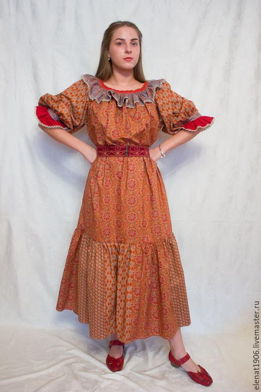 """Платья ручной работы. Ярмарка Мастеров - ручная работа. Купить Лоскутное платье """"Сибирячка"""". Handmade. Комбинированный, творческая мастерская"""