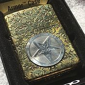 Сувениры и подарки handmade. Livemaster - original item Lighter Zippo Baphometh Silver. Handmade.