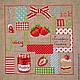 """Абстракция ручной работы. Ярмарка Мастеров - ручная работа. Купить Вышивка крестом """"Confiture de fraises"""". Handmade. Ярко-красный"""