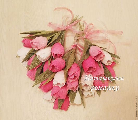"""Букеты ручной работы. Ярмарка Мастеров - ручная работа. Купить Букет из конфет """"Тюльпаны нежно розовые"""". Handmade. Розовый"""