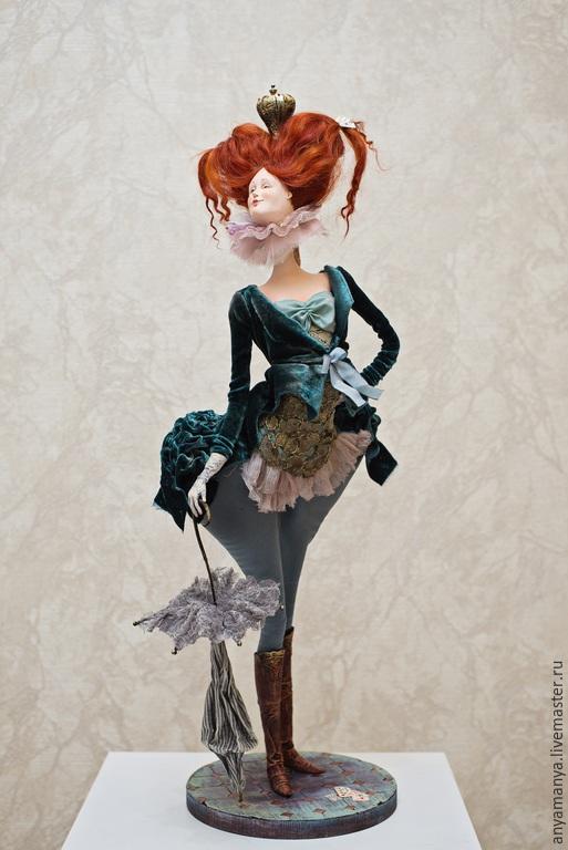 Коллекционные куклы ручной работы. Ярмарка Мастеров - ручная работа. Купить дама Пик. Handmade. Разноцветный, подарок на любой случай
