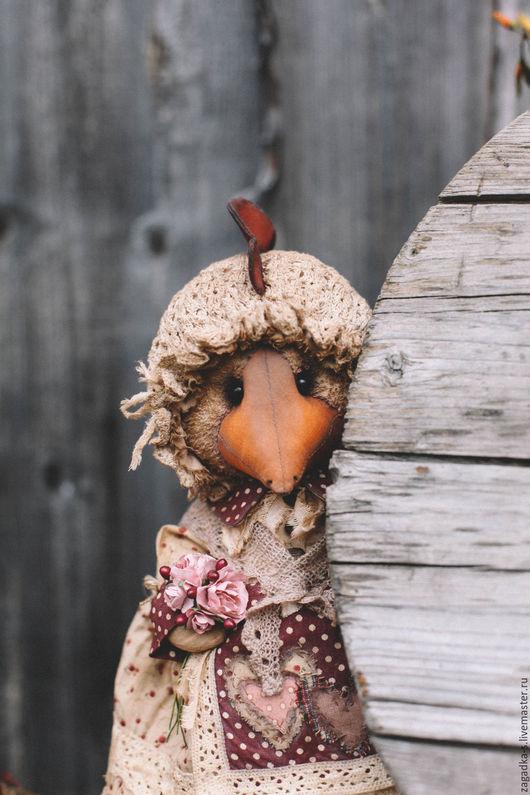 Ароматизированные куклы ручной работы. Ярмарка Мастеров - ручная работа. Купить Ряба.. Handmade. Бордовый, винтажный стиль, хлопок