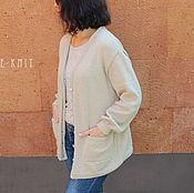 Одежда handmade. Livemaster - original item Cardigan cashmere womens. Handmade.