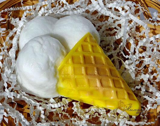 """Мыло ручной работы. Ярмарка Мастеров - ручная работа. Купить """"Ванильное мороженое""""     Мыло. Handmade. Мороженое, мыло-мороженое, подарок"""