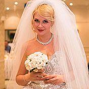 Свадебный салон ручной работы. Ярмарка Мастеров - ручная работа Свадебный букет - дублер из белых роз.. Handmade.