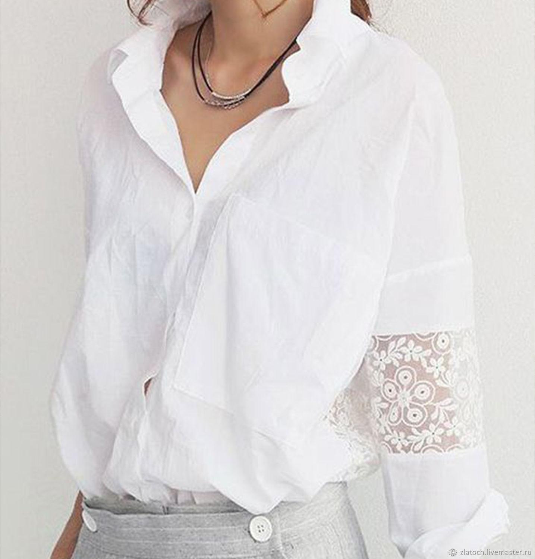 Блузки ручной работы. Ярмарка Мастеров - ручная работа. Купить Белая блуза. Handmade. Белый, большие размеры, школьная форма