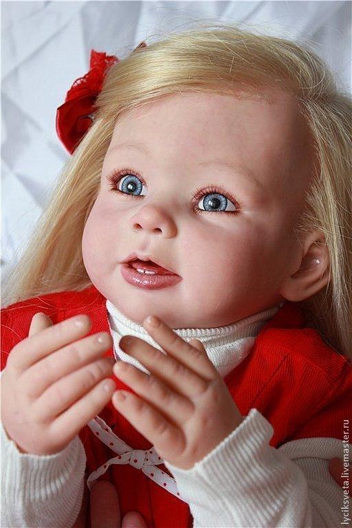 """Куклы-младенцы и reborn ручной работы. Ярмарка Мастеров - ручная работа. Купить Агния  кукла реборн из мастерской """"Лучик СВета"""". Handmade."""