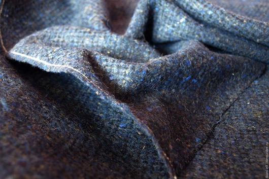 Шитье ручной работы. Ярмарка Мастеров - ручная работа. Купить Ткань Твид костюмно-пальтовая. Handmade. Тёмно-синий