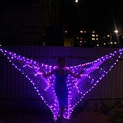 Одежда ручной работы. Ярмарка Мастеров - ручная работа Крылья светящиеся светодиодные. Handmade.