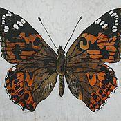 Картины и панно ручной работы. Ярмарка Мастеров - ручная работа Батик панно «Бабочка» на шелке. Handmade.
