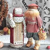 """Народная кукла ручной работы. Ярмарка Мастеров - ручная работа Семейная парочка """"Яблочный спас"""".. Handmade."""
