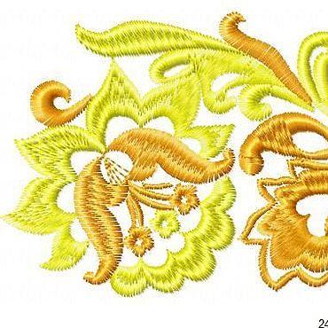 Материалы для творчества ручной работы. Ярмарка Мастеров - ручная работа Программа дизайн для машинной вышивки Хохлома Бордюр. Handmade.
